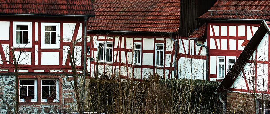 richtig schön: ein typisches Fachwerkensemble im Vogelsberg