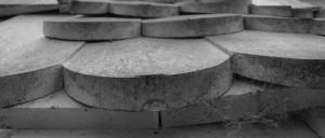 Leinöl: grauer Belag auf Schindeln